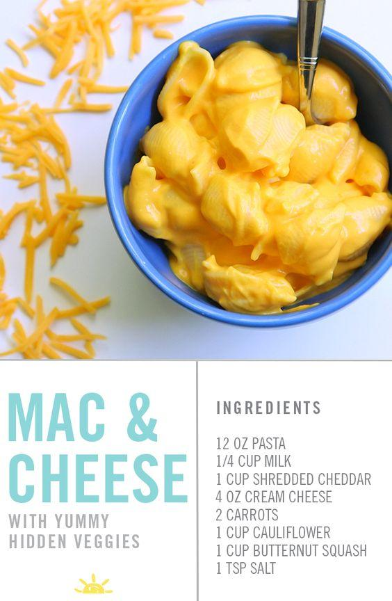 Vegetable Recipes For Kids || Kid Friendly Vegetable Recipes. Mac and Cheese with cauliflower and squash! Kids won't even know they are in there. You're going to love this.