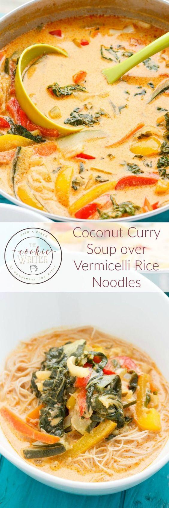 Vegetable Recipes For Kids || Kid Friendly Vegetable Recipes. Coconut Curry Soup over Vermicelli Rice Noodles. A light and refreshing soup that is completed in less than 30 minutes, the addition of snap or snow peas would be perfect!