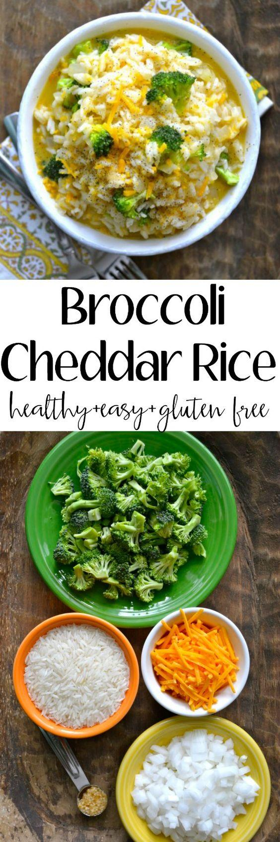 Vegetable Recipes For Kids || Kid Friendly Vegetable Recipes. Creamy Broccoli Cheddar Rice!! This is the ultimate comfort food! Perfect as an easy side dish or a vegetarian meal! Loaded with sharp cheddar, tender rice and fresh broccoli! Gluten free!