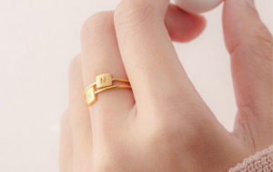 Centime Gift Stackable Name Rings. Get your discount code on Embellishmints.com
