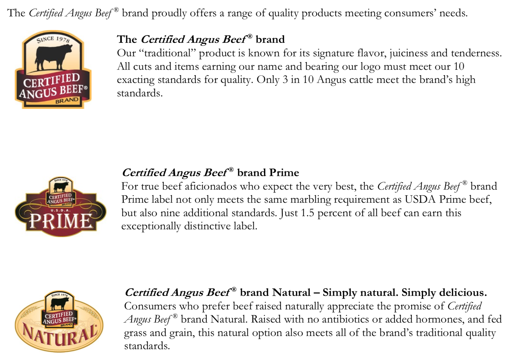 Certified Angus Beef® offers a range of quality products meeting consumers' needs. Learn more about them on Embellishmints.com