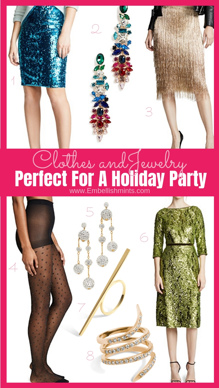Need ideas for your holiday party? Bring on the sequins, embellished mesh, fringe, statement pieces, and metallic everything and anything! Get Ideas Here. www.Embellishmints.com